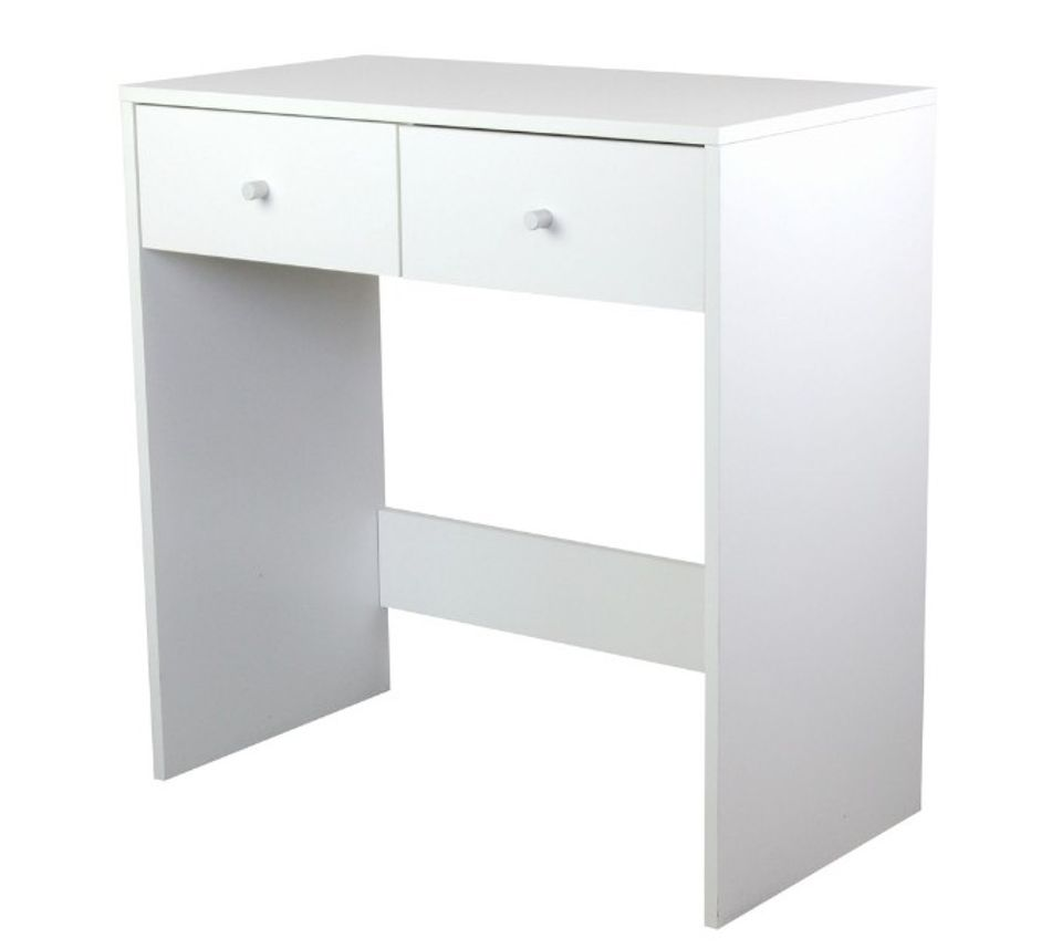 reputable site 93713 baa12 Small White Dressing Table Wooden Jewellery Cabinet Makeup Desk Drawers  Dresser | eBay