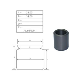P28011A 28mm Brake caliper piston for Brembo calipers Aluminium Option 2 of 5