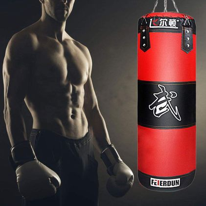 Full Heavy Boxing Set, Empty Punching Bag Gloves Training MMA Taekwondo Workout 1