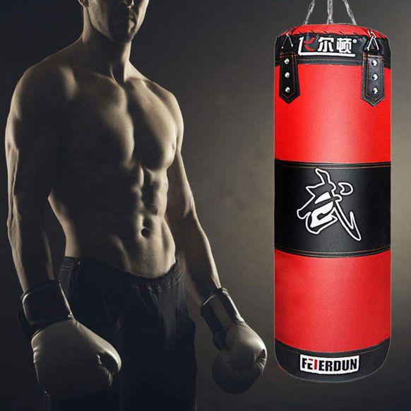 Heavy Boxing Punching Bag Training Gloves Speed Set Kicking MMA GYM Taekwondo
