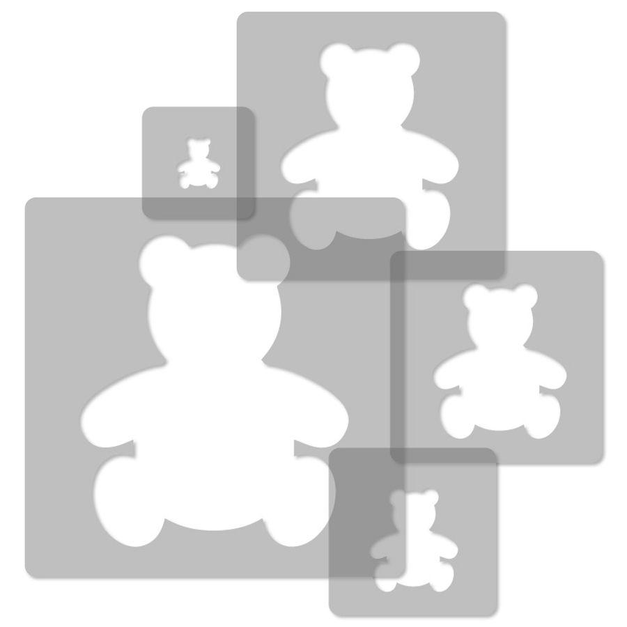 5x Wiederverwendbare Kunststoff-Schablonen 34x34cm bis 9x9cm Kinder Anker