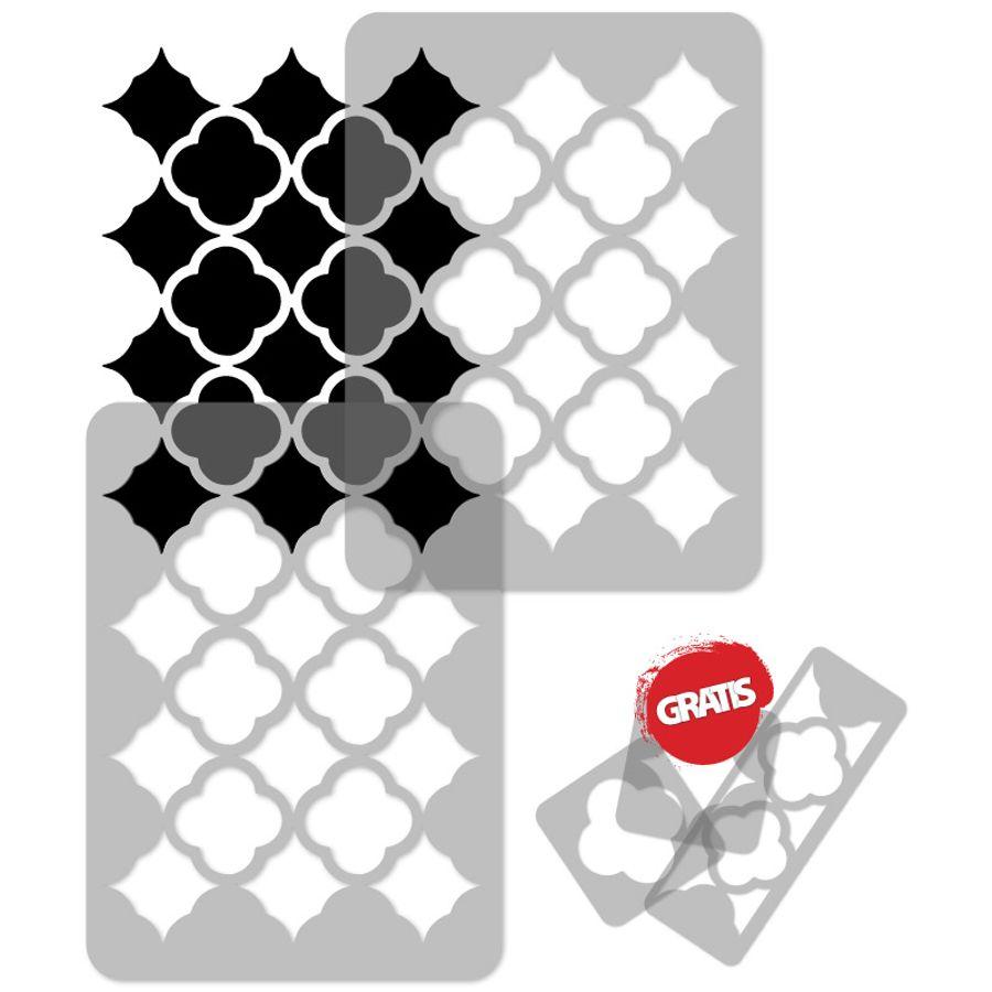 MOROCCAN reusable PLASTIC Wall STENCIL Template 65x95cm Seamless Allover ZAGHURA