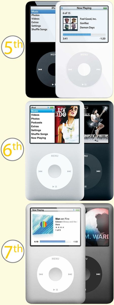 30GB, 60GB, 80GB, 120GB, 160GB 6th Apple iPod Classic 5th or 7th Generation