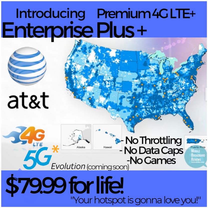 ATT VELOCITY ATT 4G LTE Unlimited HOTSPOT DATA NO THROTTLED NO CAPS