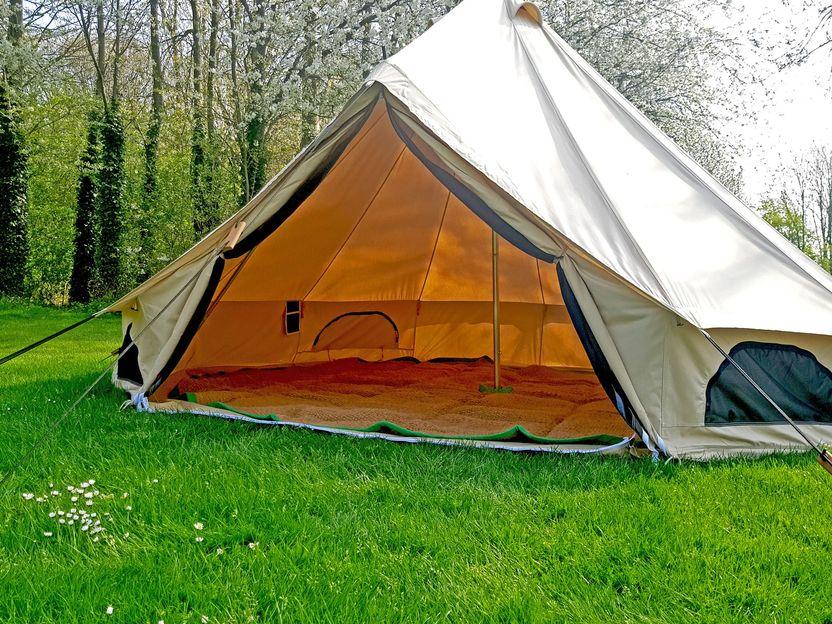 Natural 7M Bell Tent Polypropylene Matting