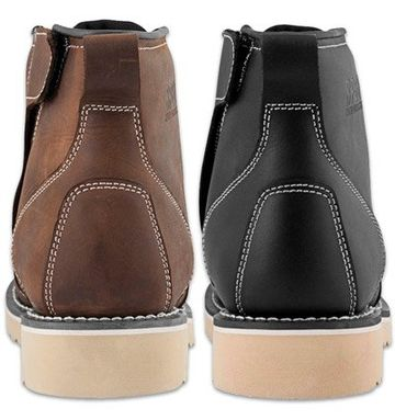 Motorcycle Leather Boots | Harley Cruiser Men's Shoes Black Brown Worker Street