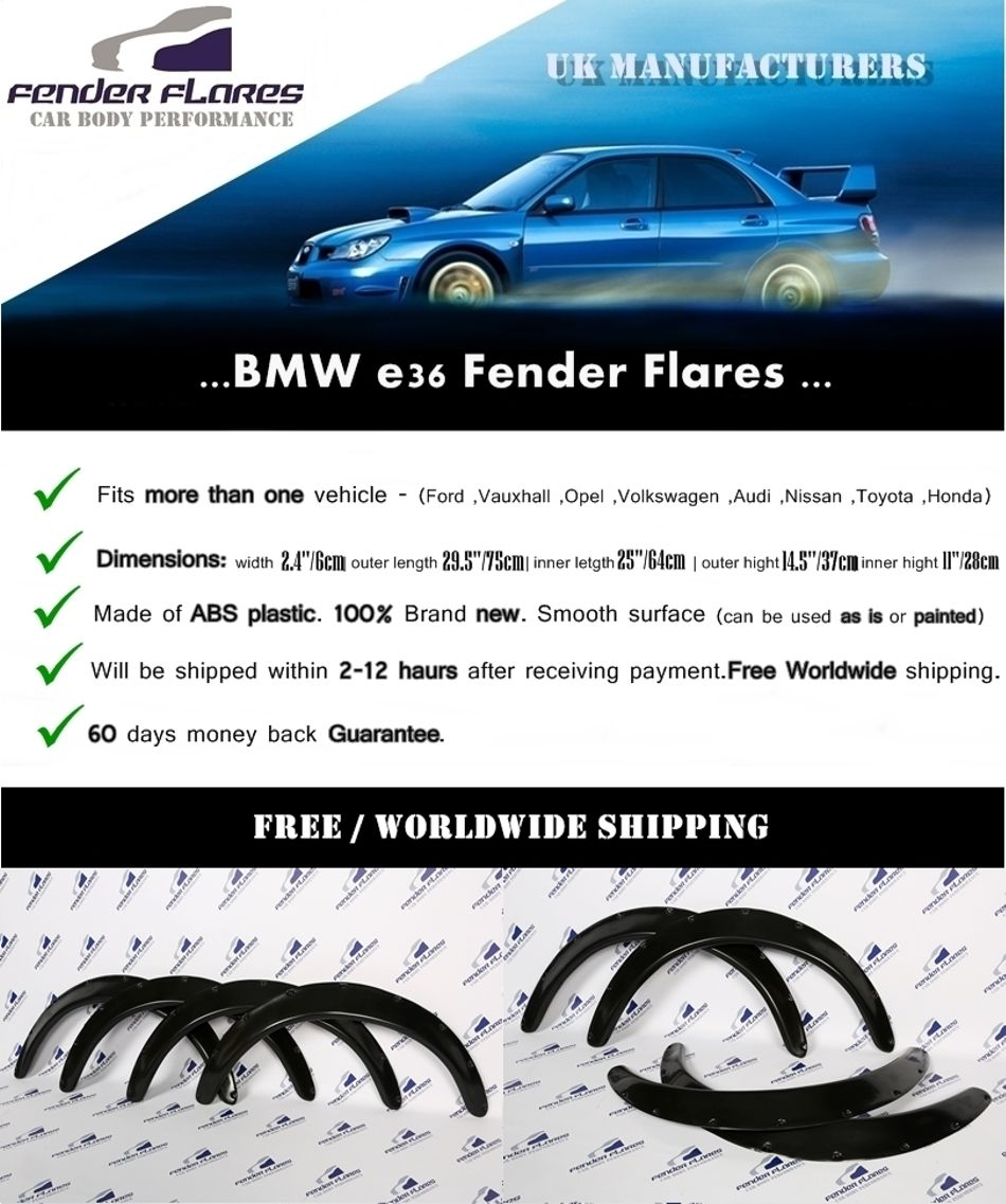 Tuning, styling BMW E36 Fender Flares WHEEL Arches Extension