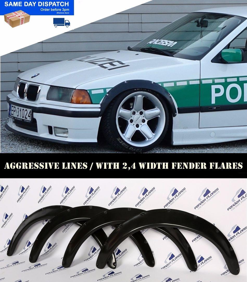 bmw 3 e36 FENDER FLARES 4 PCS  WHELL ARCHEL