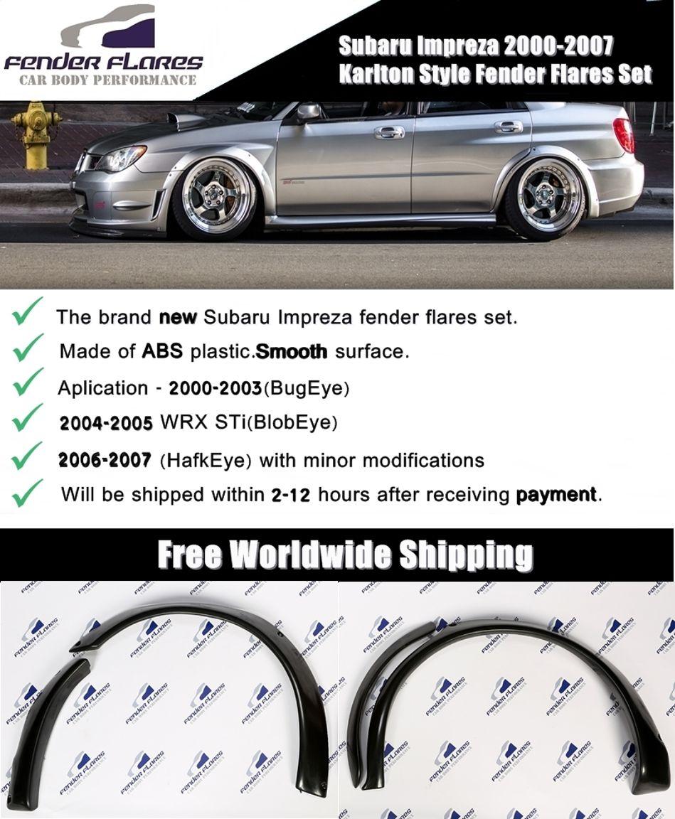 Subaru Impreza 2000 2007 Karlton Style Fender Flareswheel Abs