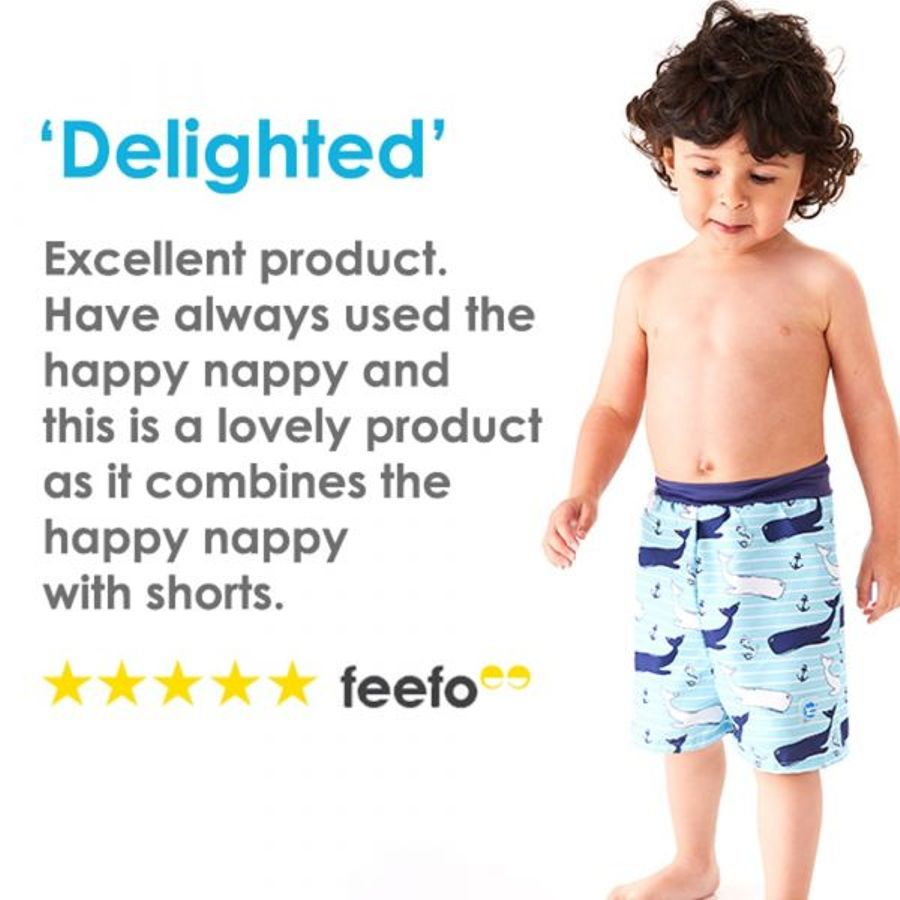 Surfs Up 2X-Large Splash About Unisex Baby Happy Nappy Babies Happy Nappy Board Shorts