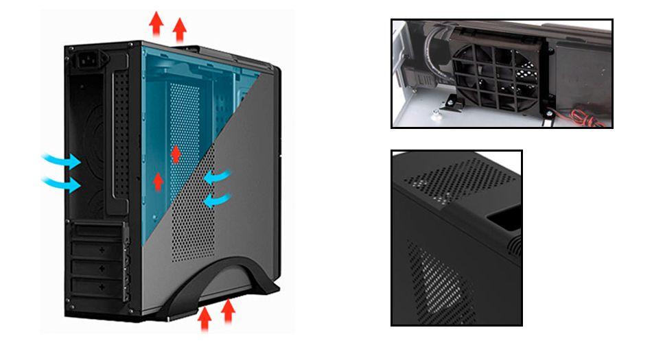 Micro atx mini tower case S612 small PC case w/ 400W PSU 3x USB ...