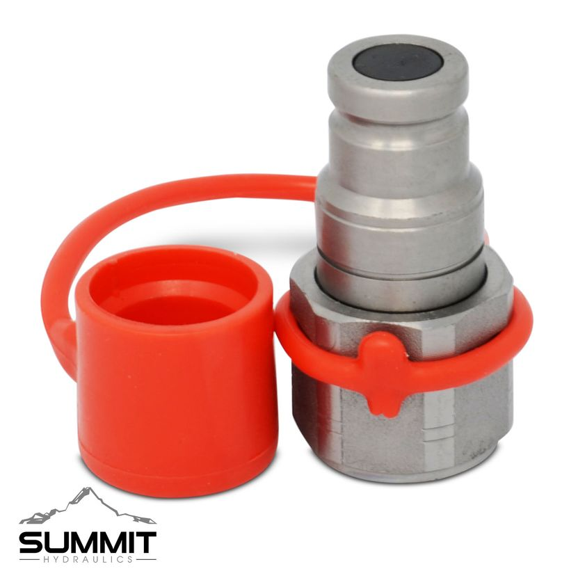 1//2″ NPT Thread 3//8″ Flat Face Hydraulic Quick Connect Male Coupler Fitting