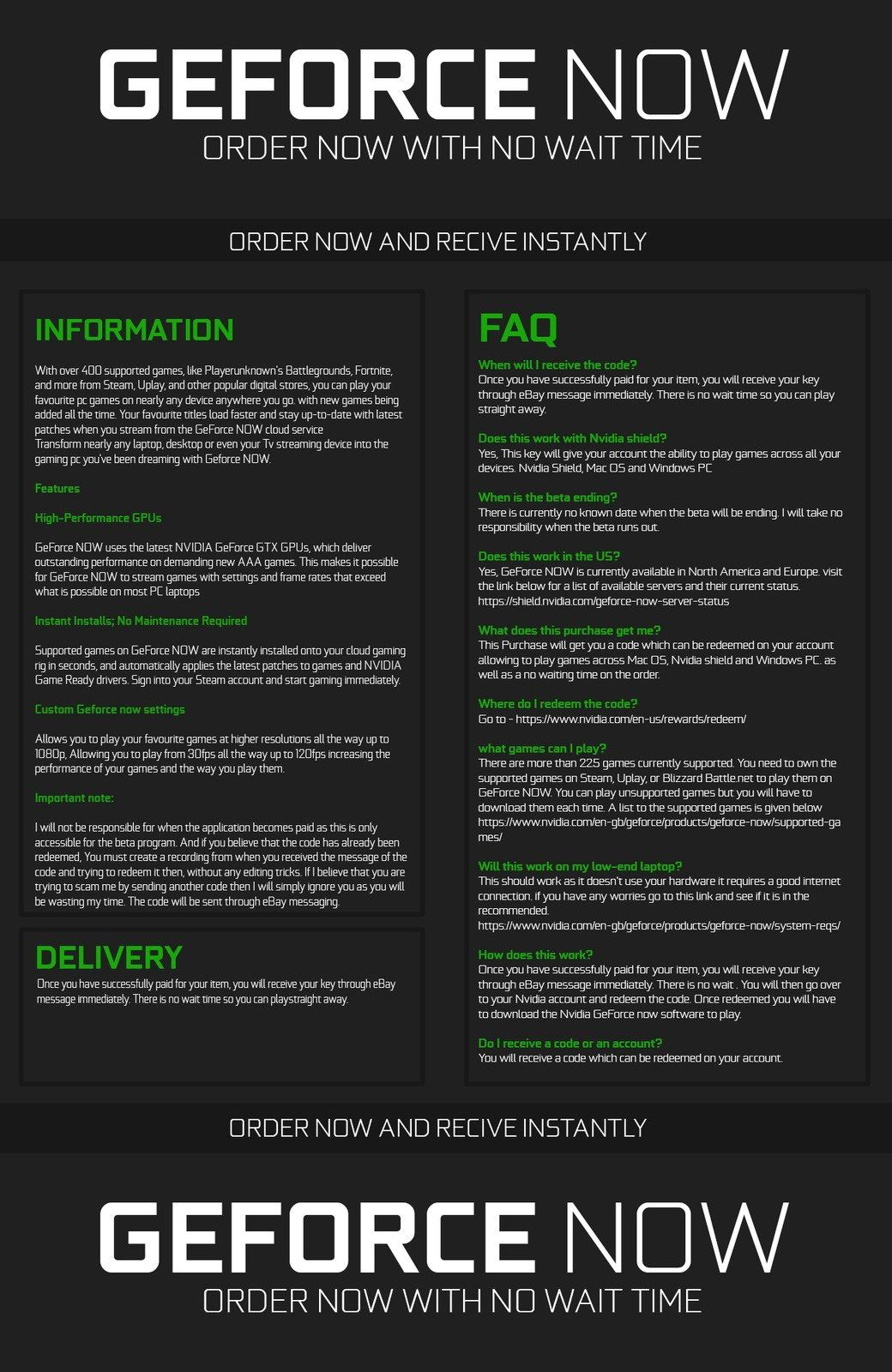 Details about NVIDIA GEFORCE NOW KEY [INSTANT DELIVERY]