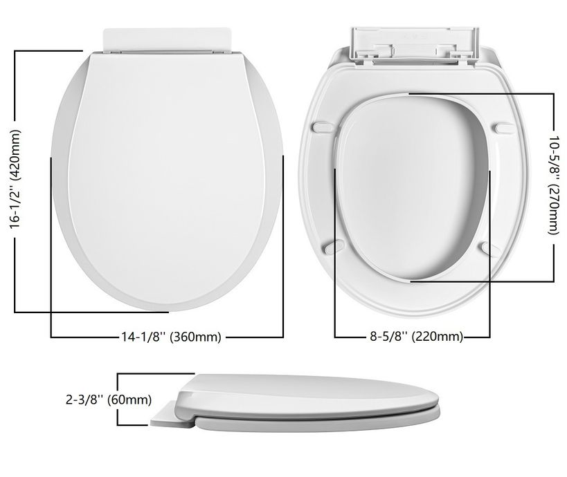 Winfield Heavy Duty Round Front Soft Close Toilet Seat