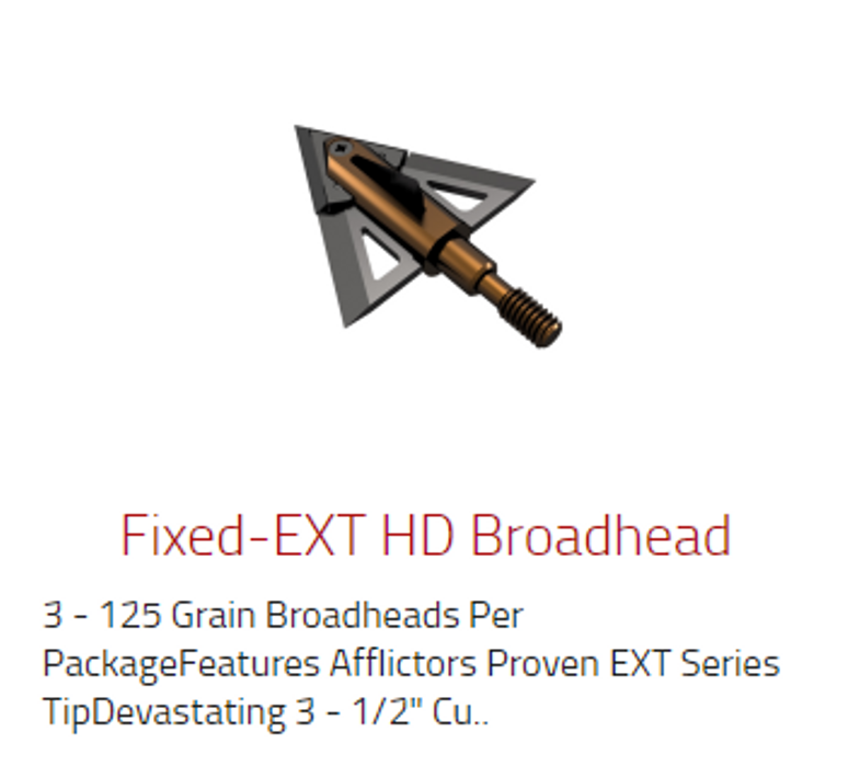 Fixe ext HD Broadhead