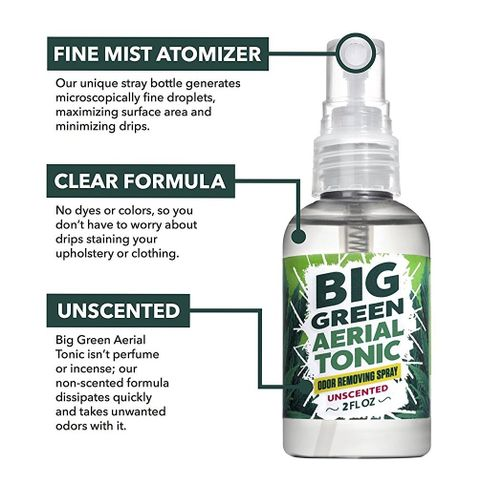 Big green smoke odor eliminator spray unscented 2oz odor for Unscented bathroom deodorizer