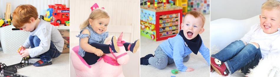 Kids Soft Leather Dotty Shoes Baby Boy Girl Anti-slip Sole Toddler Crib Crawling