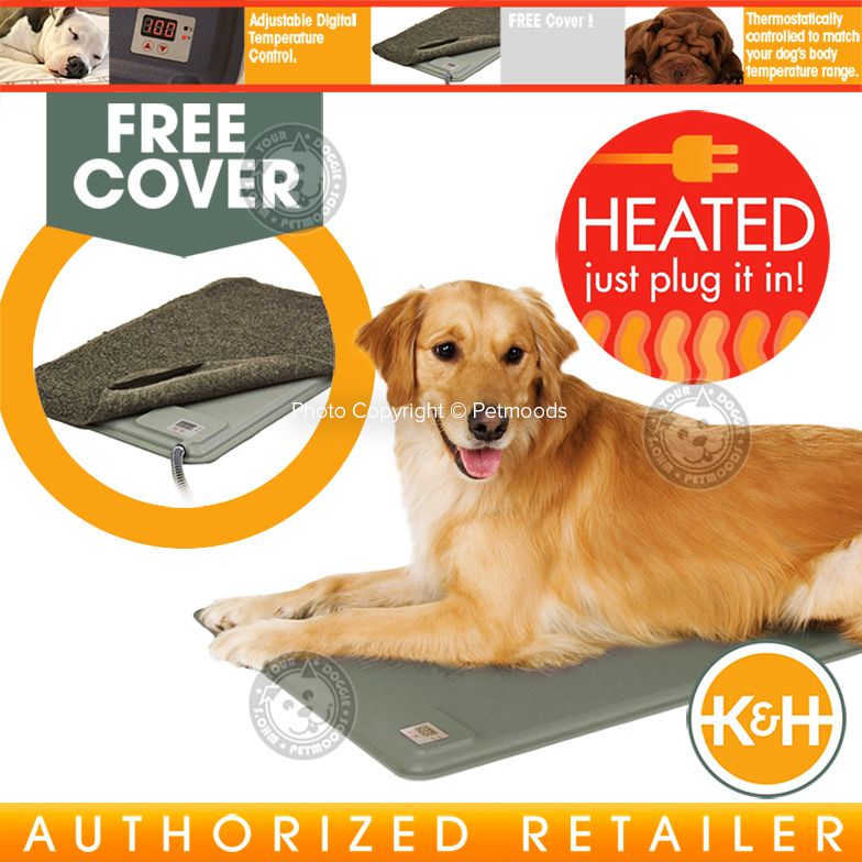 K Amp H Deluxe Lectro Kennel Indoor Heated Dog Bed Crate