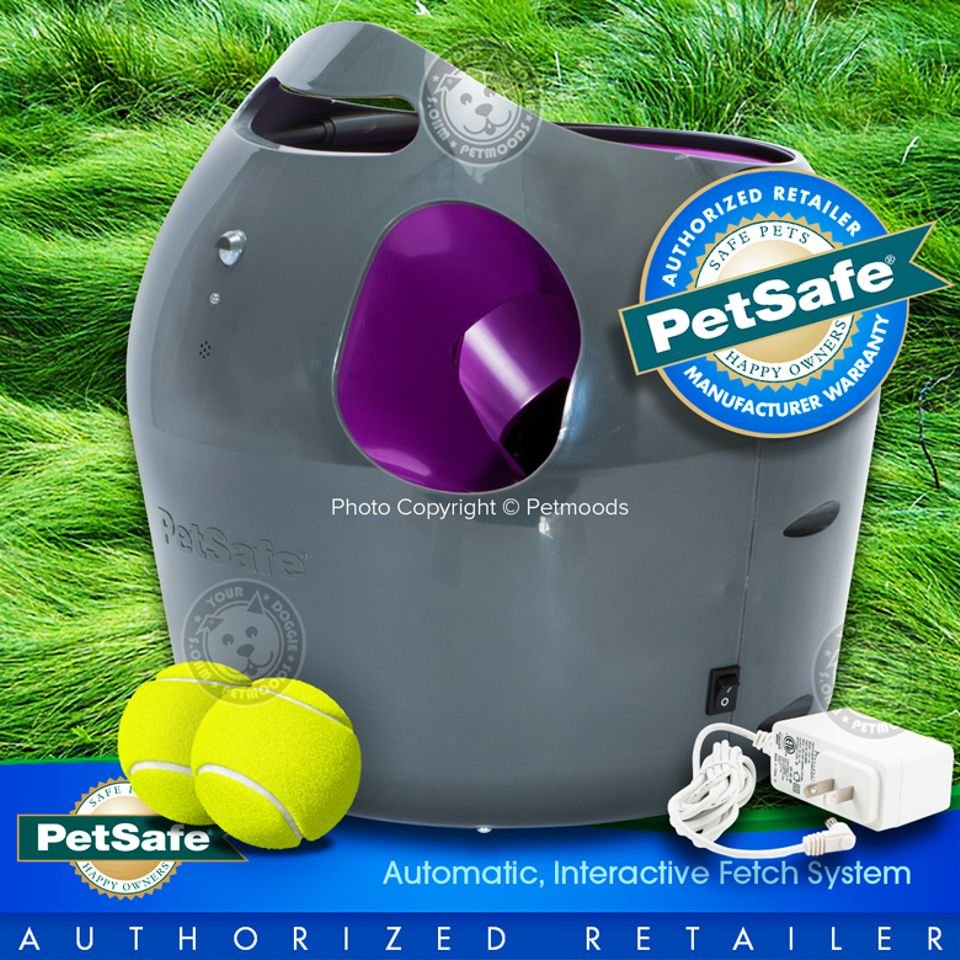 Details about PetSafe Automatic Ball Launcher Interactive Dog Fetch Toy w/  2-Balls PTY00-14665