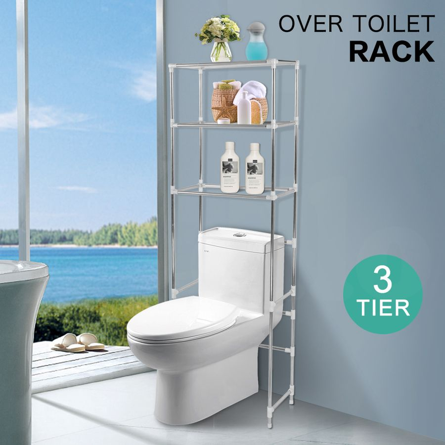 Three Tier Bathroom Stand: New Over Toilet Bathroom Storage Rack Shelf Unit Organizer