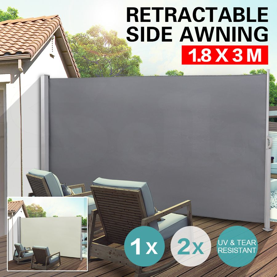 1.8X3M Retractable Side Awning Shade Home Patio Garden ...