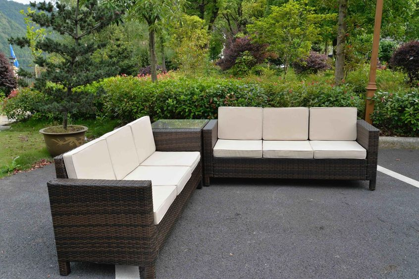 Salotto rattan set giardino esterno divano arredo vimini for Set giardino esterno