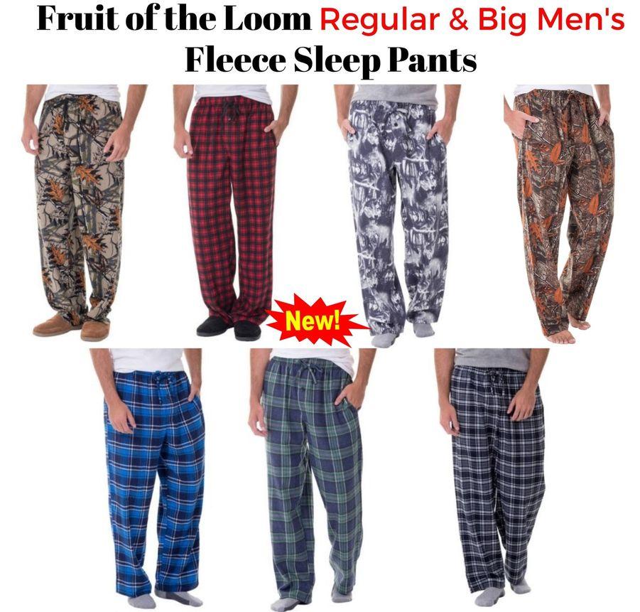 NEW ESSENTIAL SLEEPWEAR MEN/'S BIG /& TALL MICRO FLEECE LOUNGE PANTS 2X 4X 3X