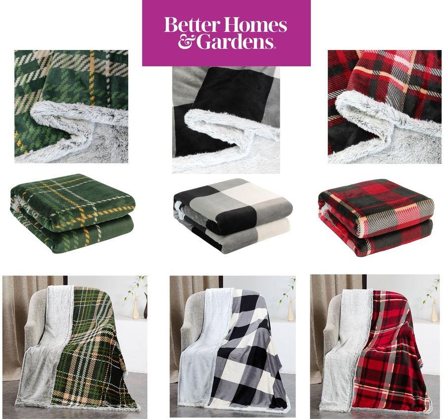 "Warm /& Cozy 50/""x 60/"" Details about  /Better Homes /& Gardens Soft Faux Fur Light Color Throw"