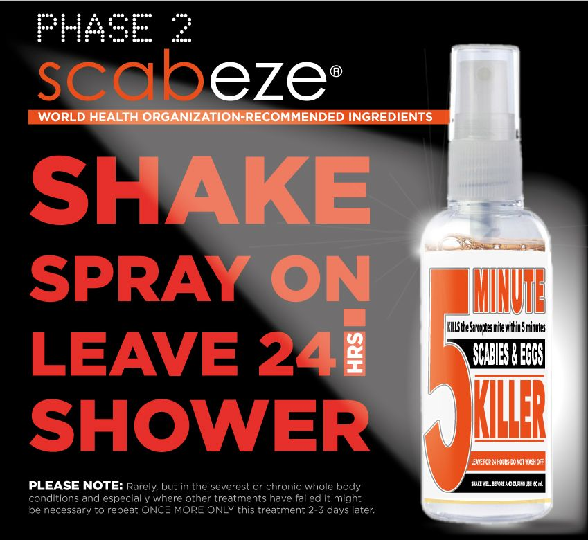 Details about KILL SCABIES / EGGS IN JUST ONE EASY 5-MINUTE TREATMENT  KILLER SCABEZE SPRAY SET