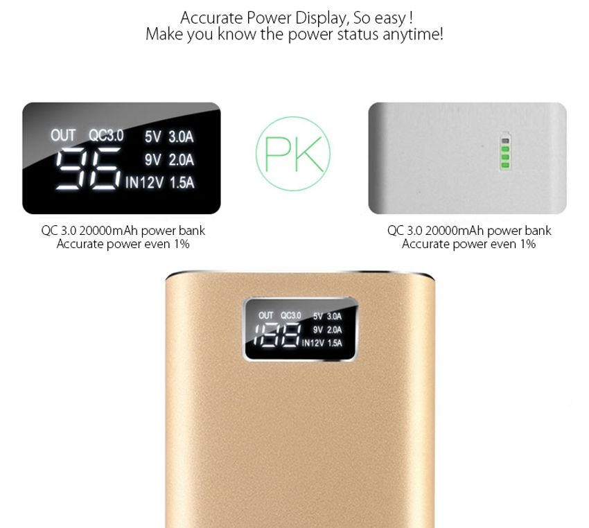 Specification New Qualcomm Quick Charge QC30 20000mAh
