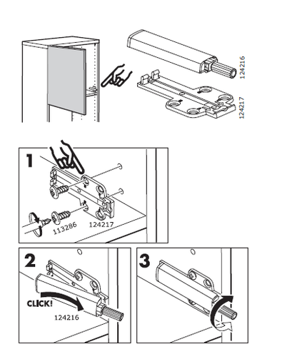 Details about Ikea BESTA SOFT CLOSE HINGE PACK with push opener BRAND NEW  ITEM 802 612 58