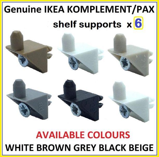 Ikea Pax Cassettiera Interna.Ikea Komplement Pax Guardaroba Scaffale Supporto Spine Perni X 6