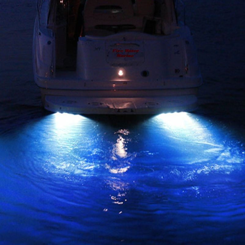 50w 4000 Lumens Blue Garboard Led Boat Drain Plug Light