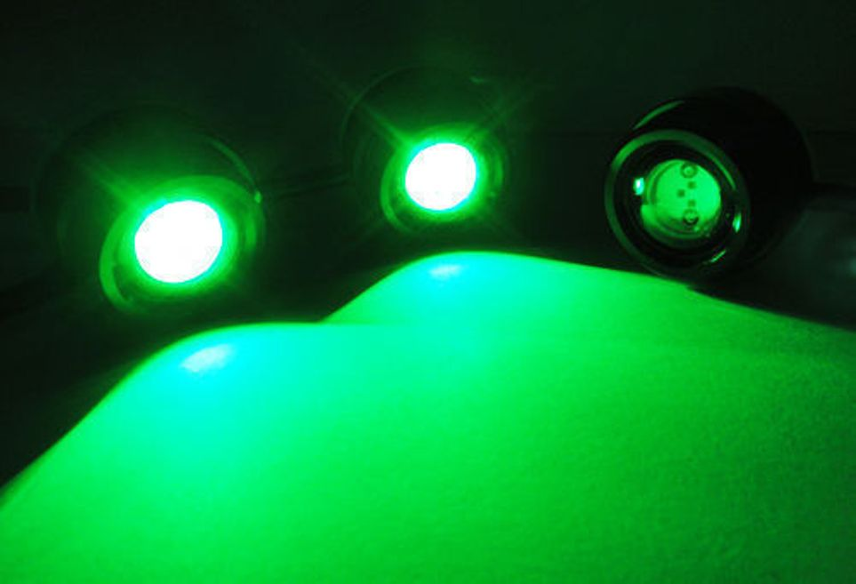 Green Led Boat Plug Light Garboard Brass Drain 1 2 Quot Npt
