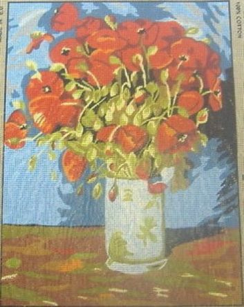 Vase Of Poppies Van Gogh Tapestry Needlepoint Canvas Collection D Art 1245365754604 Ebay