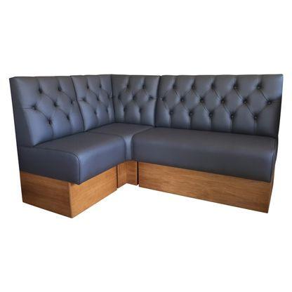 Modular Deep Buttoned Banquette Fitted Bench Booth Seating Ebay