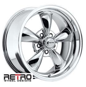 17 inch 17x8 retro chrome wheels rims 5x4 50 for plymouth cars 1969 Road Runner 4
