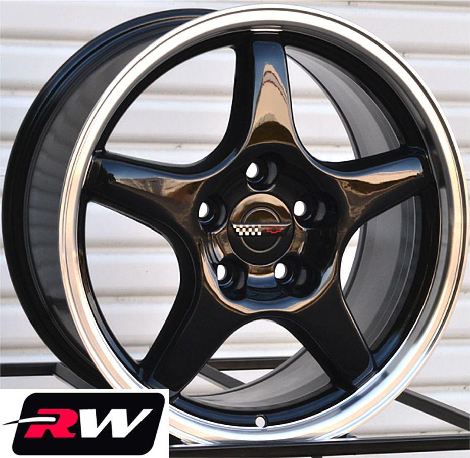 Corvette Wheels C4 Zr1 Black Rims 17 Inch 17x9 5 Fit