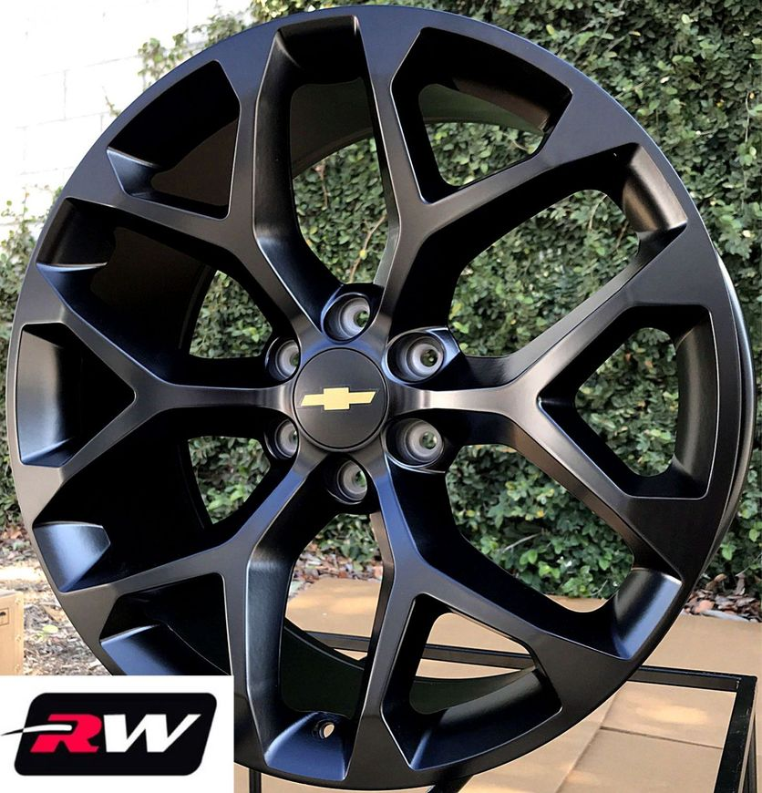 50 Inch Rims On Chevy : Quot inch chevy tahoe snowflake oe replica wheels