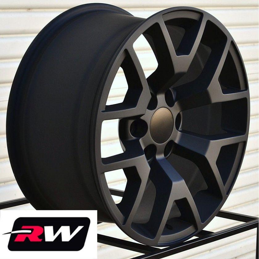 Gmc Snowflake Wheels >> 2014 2015 GMC Sierra OE Replica 24 inch Wheels Satin Black Rims Chevy Silverado | eBay
