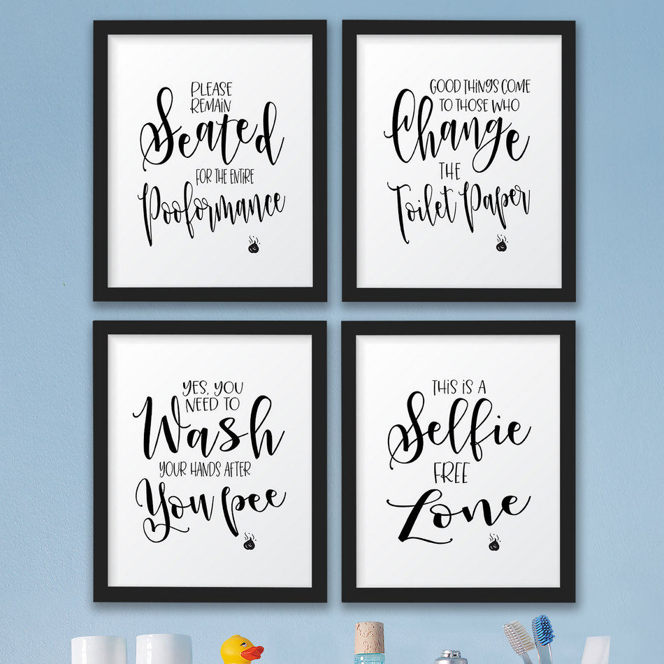 Details about The John Funny Bathroom Wall Art Prints Decor Pictures,  Signs/Quotes Gag Gift