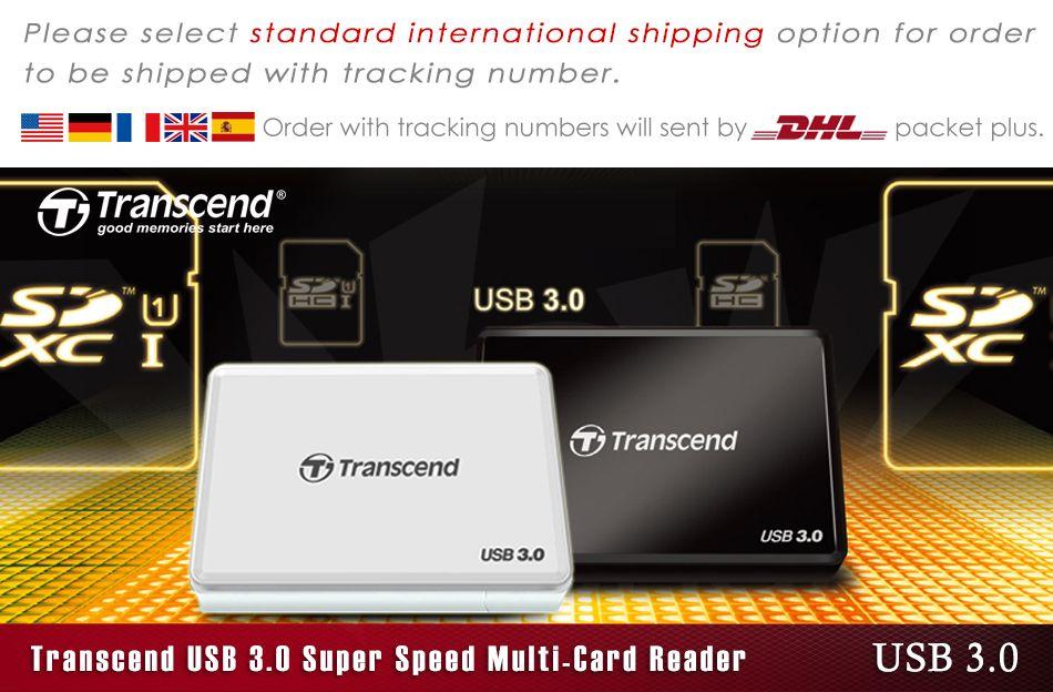 Transcend RDF8 SD microSDHC CF USB 3.1 Card Reader TS-RDF8K2  Full Tracking