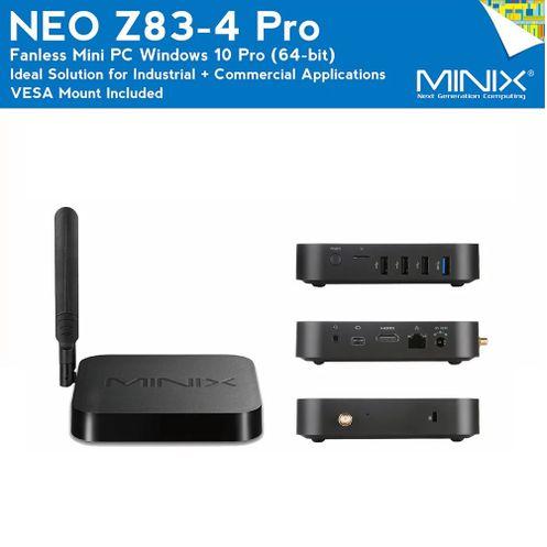 Backlit//QWERTY//Win 10 64-bit MINIX NEO Z83-4 + NEO W2 2.4GHz Wireless Windows Air Remote . 4GB//32GB//Dual-Band Wi-Fi//Gigabit Ethernet//Dual Output//4K Intel Cherry Trail Fanless Mini PC Windows 10