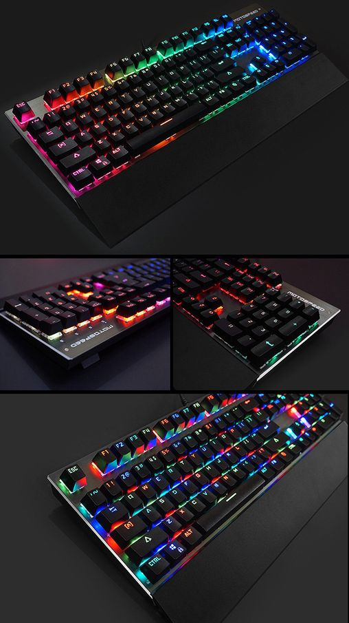 Computer Accessories MOTOSPEED CK108 Mechanical Keyboard USB Wired Gaming Keyboard with 18 Backlight Mode,Blue Switch