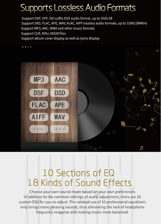 Details about XDUOO X3 II Lossless Audio MP3 Hi Fi Bluetooth Music Player  USB Dac SD Card Slot