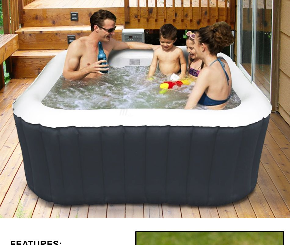 mspa alpine luxury inflatable 2 2 square portable jacuzzi hot tub spa system ebay. Black Bedroom Furniture Sets. Home Design Ideas