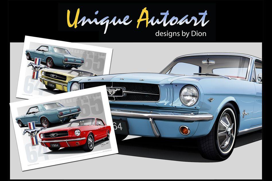 1964 Mustang Drawing