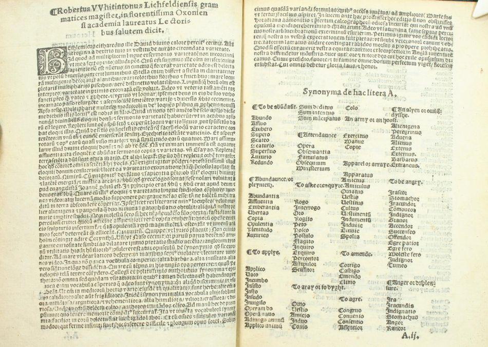English To Latin Thesaurus 110