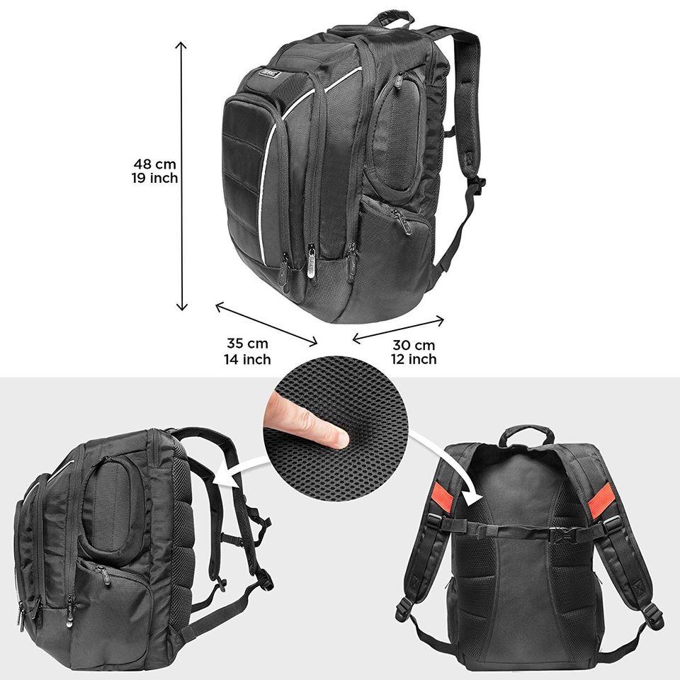 28918e46667 PERFECTA PARA VIAJES  el tamaño de esta mochila cumple con las medidas de  equipaje de mano de las compañías aéreas. El compartimento para portátil  está ...