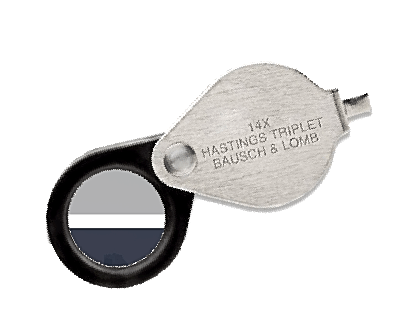 Packette Coin Magnifier 5X Pocket Pop Out New Loupe Stamp Currency Bausch /& Lomb